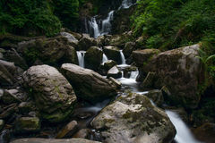 Waterfall, Republic of Ireland. Long term exposure stock image