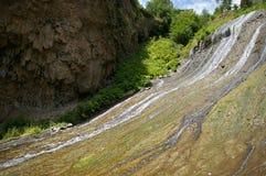Waterfall of the resort Jermuk in Armenia royalty free stock image