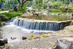 Waterfall in resort Stock Images