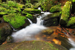 Waterfall in Resov in Moravia, Czech republic Royalty Free Stock Image