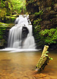Waterfall in Resov in Moravia, Czech republic Stock Image