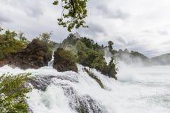Waterfall on rhine river Royalty Free Stock Photos