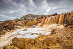 Waterfall at Rio Tinto Royalty Free Stock Photography