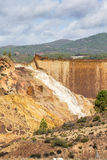 Waterfall in Riotinto mining area, Andalusia, Spain Stock Photography