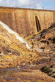 Waterfall in Riotinto mining area, Andalusia, Spain Royalty Free Stock Photos