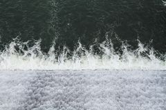 Waterfall ripples Seen From Above stock photo