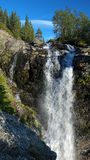 Waterfall on Risjok river in Khibiny Mountains Royalty Free Stock Photos
