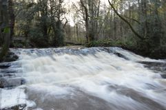 Waterfall. Rivelin valley Sheffield water Royalty Free Stock Photos