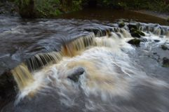 Waterfall. Rivelin valley Sheffield water Royalty Free Stock Images