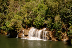 Waterfall on the river. Royalty Free Stock Images