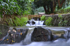 Waterfall in a river Royalty Free Stock Photos