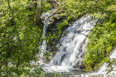 Waterfall from the river Arenteiro Royalty Free Stock Photo