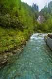 Waterfall And River In Austria Stock Photos