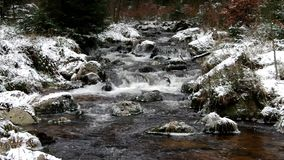 Waterfall river Bode in Winter stock video