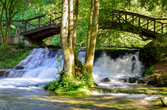 Waterfall of river Bosna near Sarajevo Stock Images