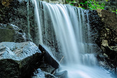 Waterfall In River. City River Waterfall After Heavy Rain Royalty Free Stock Photography