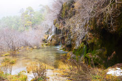 Waterfall at river Cuervo in winter Royalty Free Stock Images