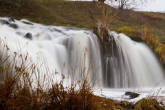 Waterfall on the river Kalmius Stock Photography