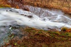Waterfall on the river Kalmius Stock Photos