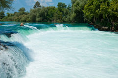 Waterfall on  river Manavgat, Turkey Royalty Free Stock Photo