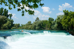 Waterfall on  river Manavgat, Turkey Stock Photo
