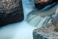 Waterfall on the River Mountain Tikich. Stock Photography