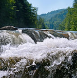 Waterfall on the river Royalty Free Stock Photography