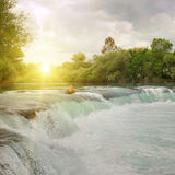 Waterfall on the river Royalty Free Stock Images