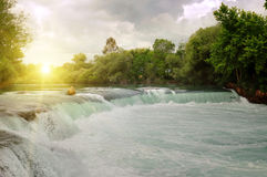 Waterfall on the river Royalty Free Stock Photo