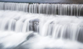 Waterfall. In river passing by burgos,spain Stock Images