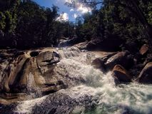 Waterfall river. A powerful waterfall in the Australian rainforest Royalty Free Stock Image