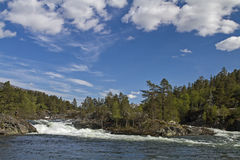Waterfall of river Rauma Stock Photos
