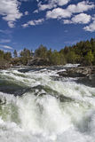 Waterfall of river Rauma Royalty Free Stock Images