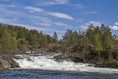 Waterfall of river Rauma Royalty Free Stock Image