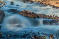 Waterfall river rocks water Royalty Free Stock Images