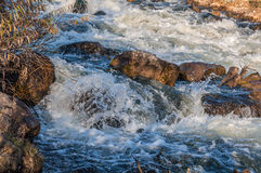Waterfall river rocks water Stock Photo