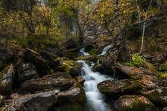 Waterfall on river Shinok Stock Photos