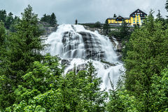 Waterfall of river Toce, Formazza Valley royalty free stock photo