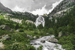 Waterfall of river Toce, Formazza Valley Stock Image
