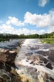 Waterfall on river Venta, Latvia. Stock Photo