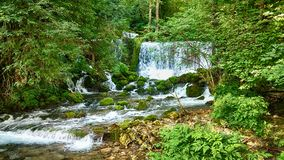 River waterfall. Waterfall on river Vrelo in Perucac, under mountain Tara, Serbia stock photography