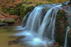 Waterfall on river Stock Image