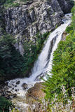 Waterfall, Road of the Seven Lakes, Argentina Stock Photo