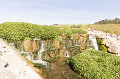 Waterfall on road to Santiago de Compostela, La Rioja Royalty Free Stock Photography