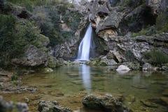 Waterfall rock Stock Photo