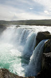 Waterfall and rock cliffs, Godafoss, Iceland Stock Images