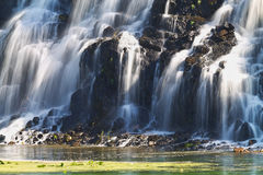 The waterfall. Rock with the waterfall closeup Stock Photography