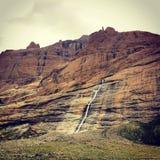 Waterfall. The waterfall in the rock in Tibet Stock Photos