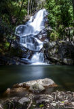 Waterfall and rock Royalty Free Stock Images