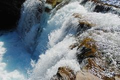 Waterfall in Rockies Stock Photography